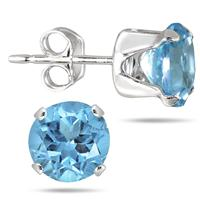 Blue Topaz Earrings from Szul