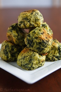 Colcannon Puffs - Recipe by Susan Voisin, Fat-Free Vegan